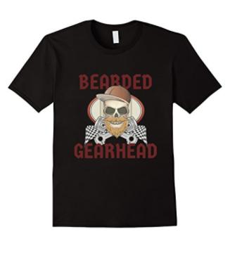 Bearded Gearhead funny beard t-shirt Christmas Gift